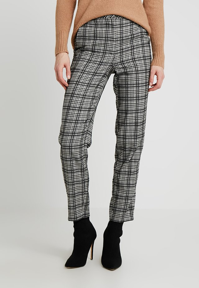 MONO CHECK TROUSERS - Trousers - black/white