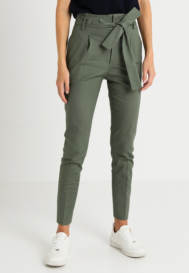 BASIC LONG - Trousers - agave green
