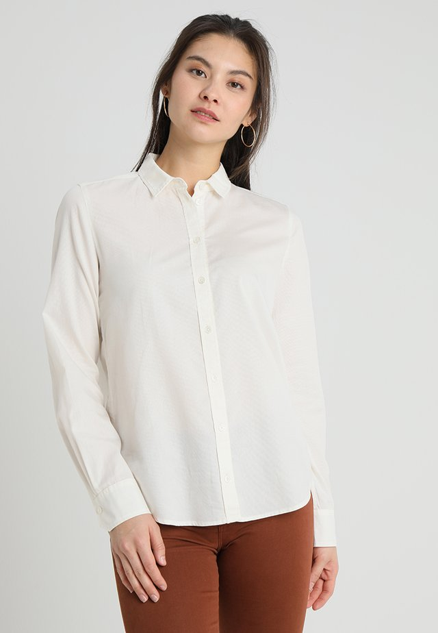 BLOUSE NORMAL SHAPE PLEAT DETAIL - Camicia - raw alabaster
