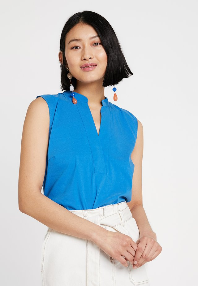 BLOUSE NON SLEEVE - Blusa - nautic blue