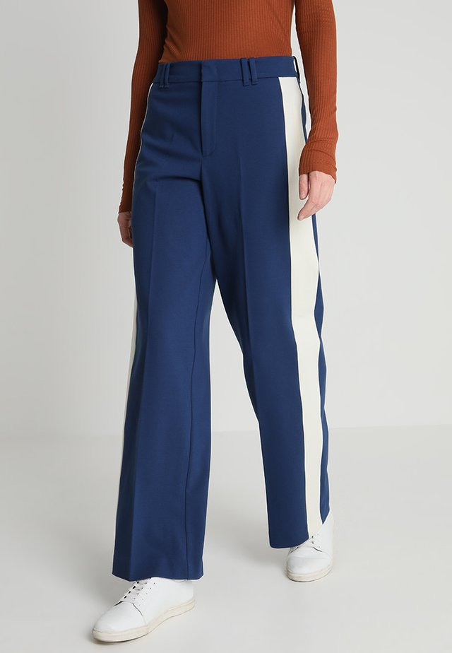 PANTS WIDE LEG COLOUR BLOCK INSER - Trousers - tinted ink