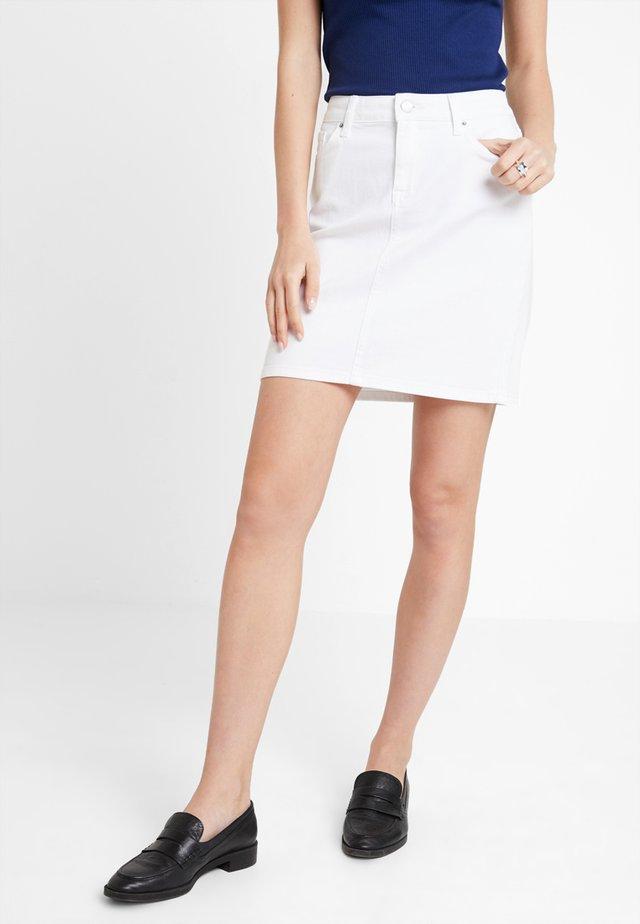ROME SKIRT - Denim skirt - white