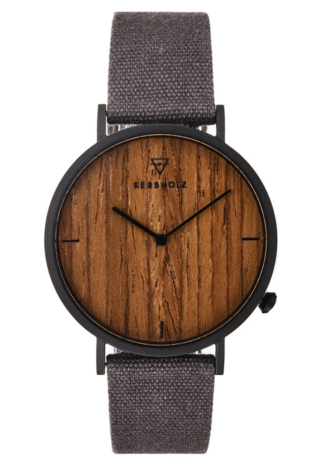 HENRI - Uhr - black/walnut/grey