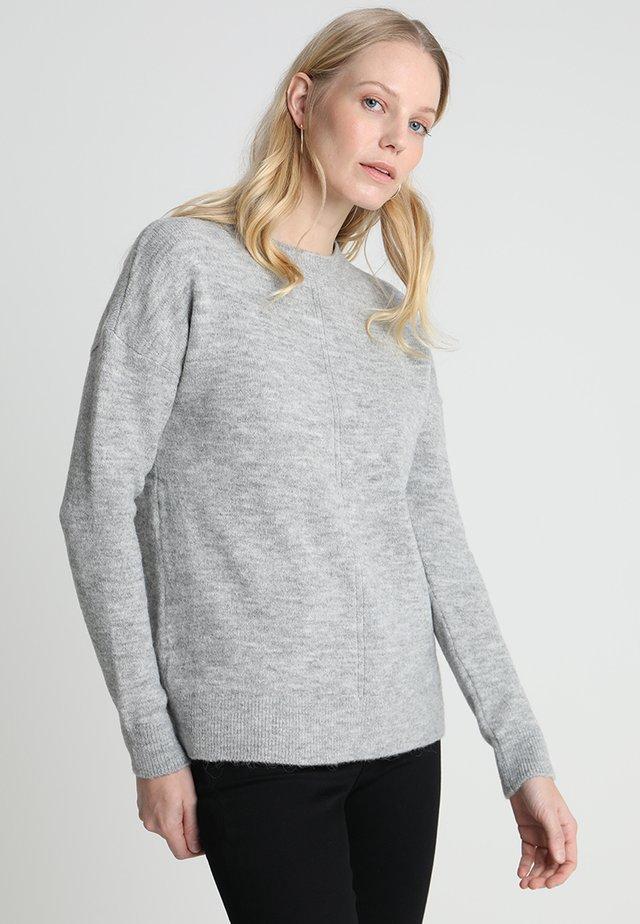 LANGARM - Strikpullover /Striktrøjer - grey melange