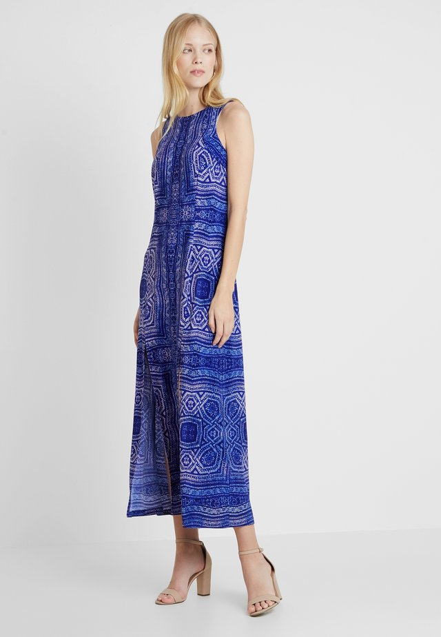 AZTEC SPLIT - Vestido largo - blue