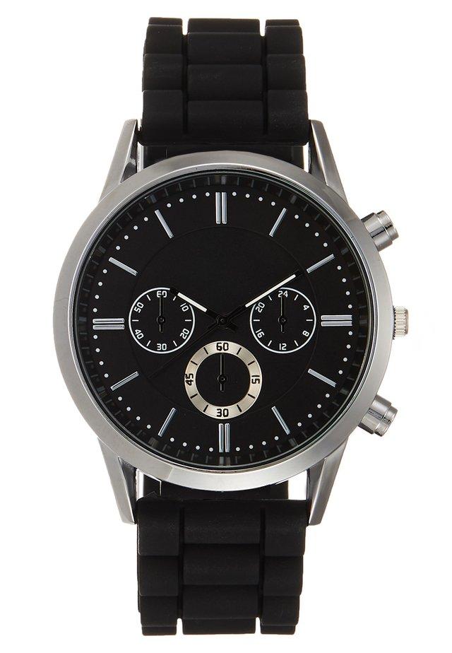 Uhr - silverc-oloured/black