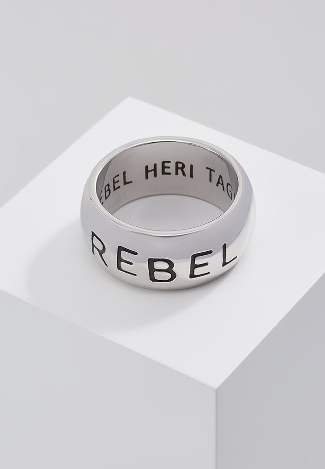 REBEL STAMP BAND - Ring - silver-coloured