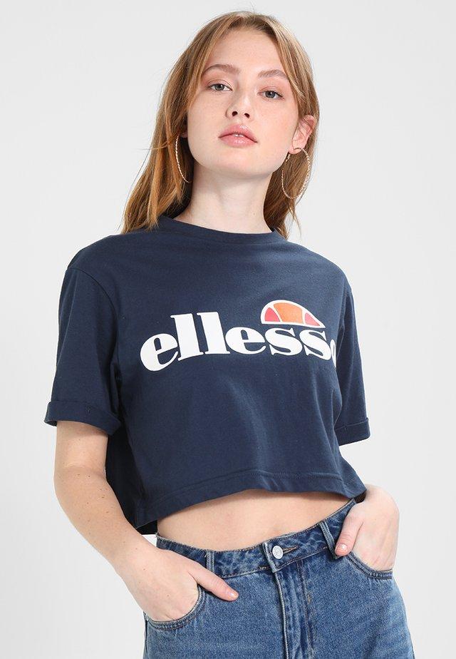 ALBERTA - Camiseta estampada - dress blues
