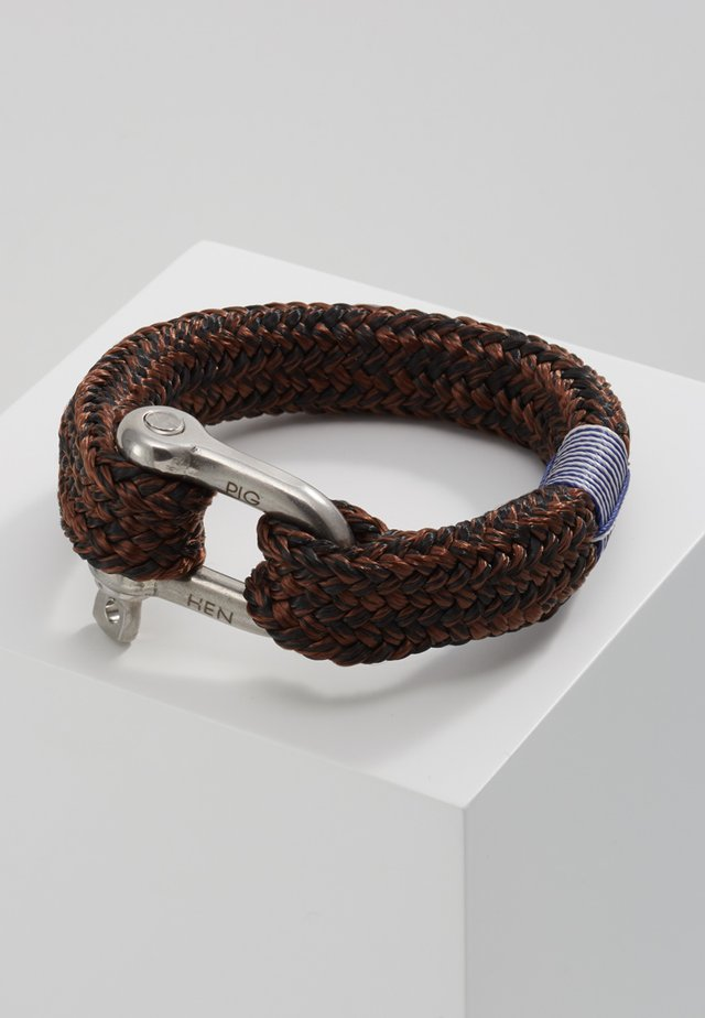 FAT FRED - Armband - black/brown