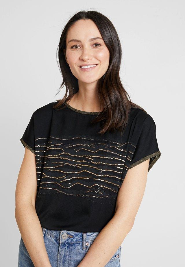 KURZARM - Print T-shirt - grey/black