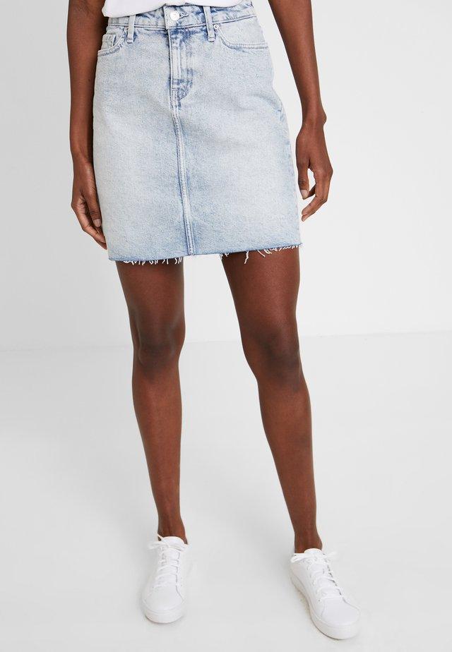 ROME SKIRT NUBIA - Denim skirt - blue