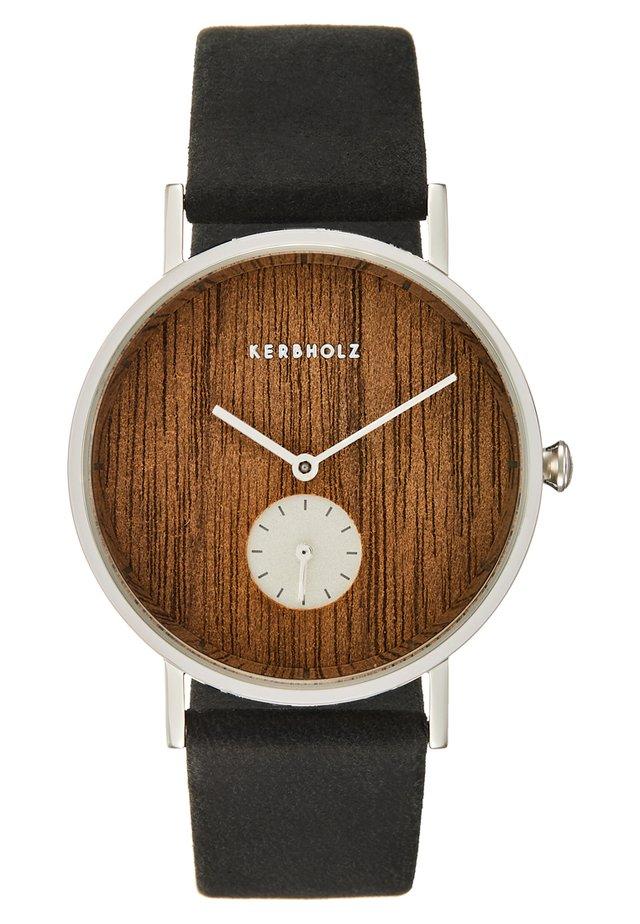 FRIDA - Horloge - silver-coloured/walnut