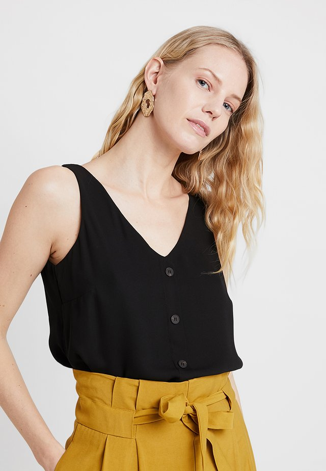 BUTTON THROUGH CAMI - Blouse - black