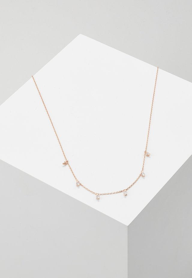 MULTI DROP NECKLACE - Halsband - rose gold-coloured