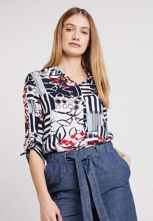 Camisa - navy/offwhite/red