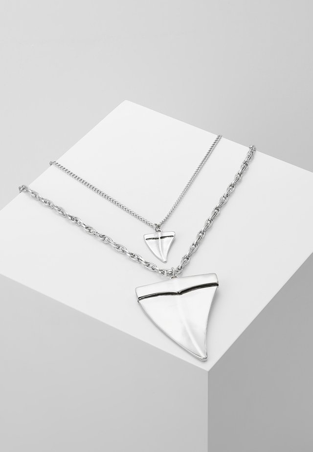 SHARK TOOTH MULTIROW NECKLACE SET - Halskette - silver-coloured