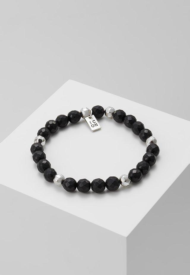 PINSTRIPE BEADED BRACELET - Armband - black/silver-coloured