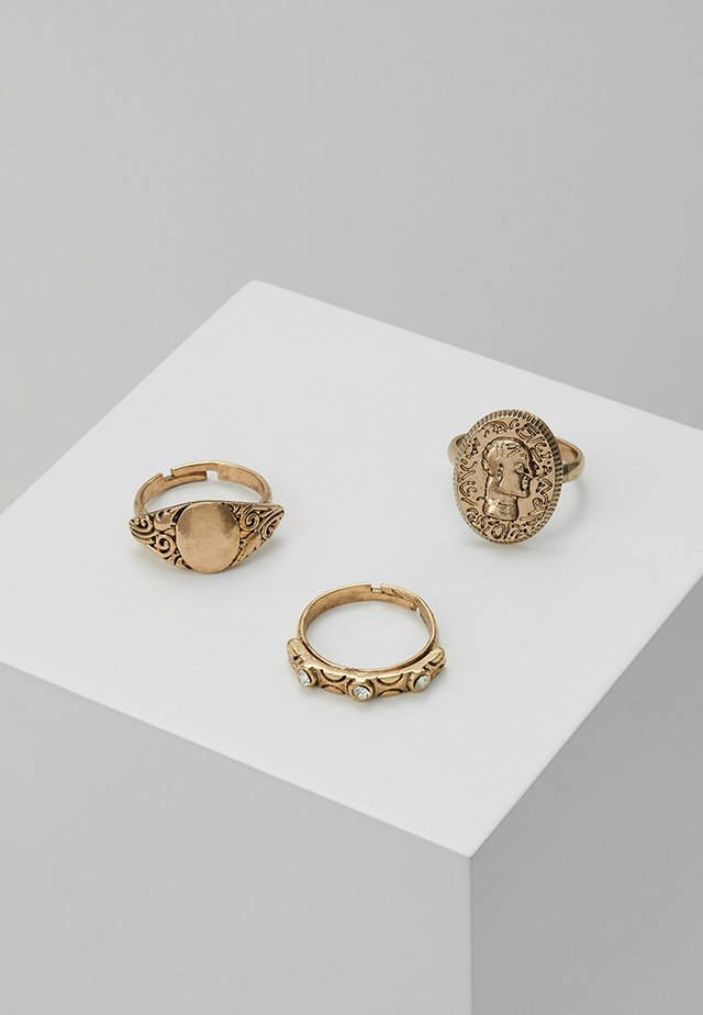 PRETTY WESTERN RING 3 PACK - Ringe - gold-coloured