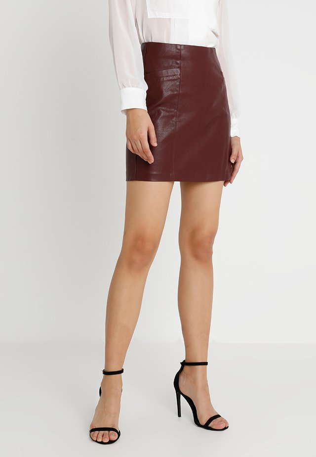 SKIRT - Mini skirt - burgundy