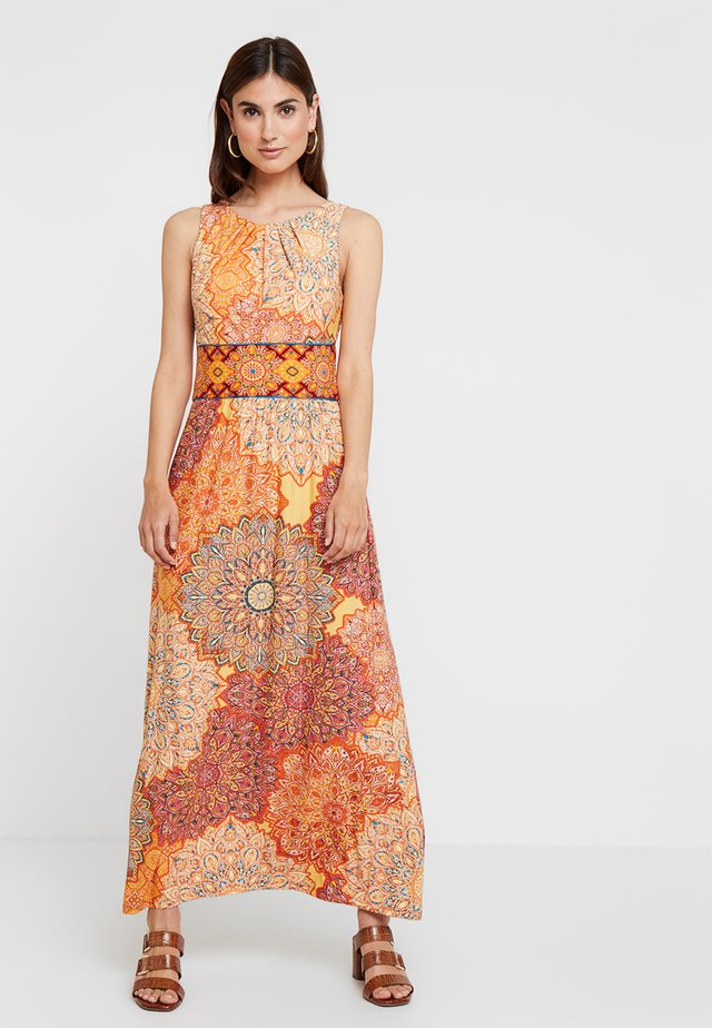 TILE DRESS - Maxi-jurk - orange
