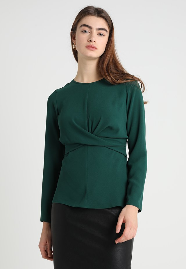 WRAP FRONT - Camicetta - green