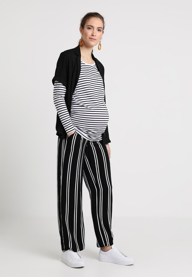 MATERNITY LONGSLEEVE STRIPE - Long sleeved top - black