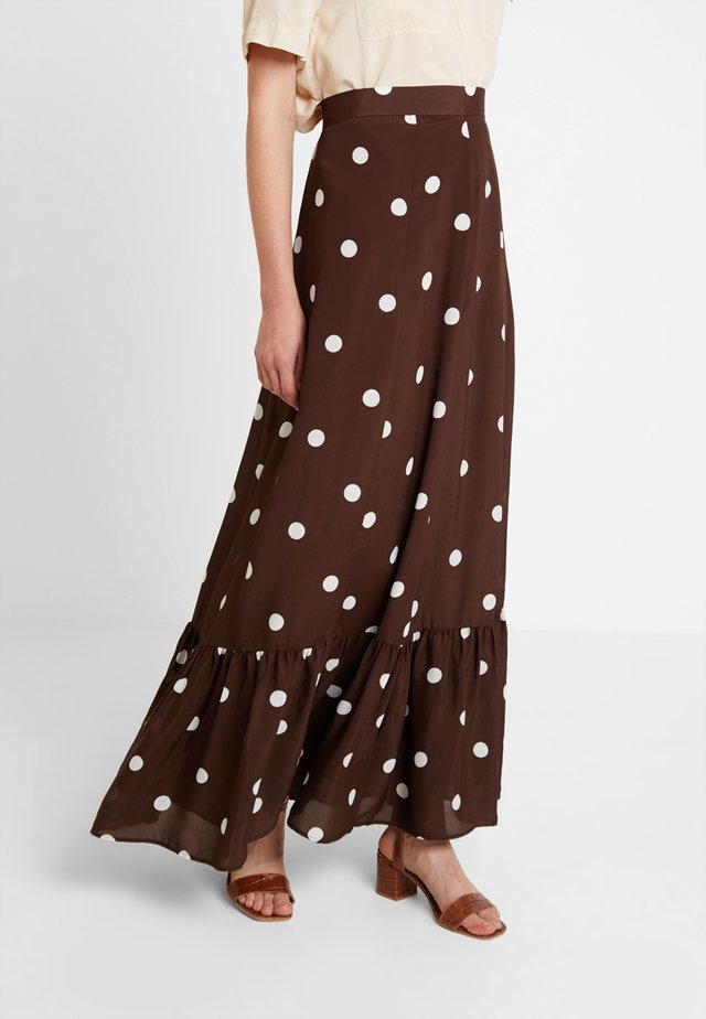 BOHEMIAN SKIRT - Maxinederdele - dark chocolate