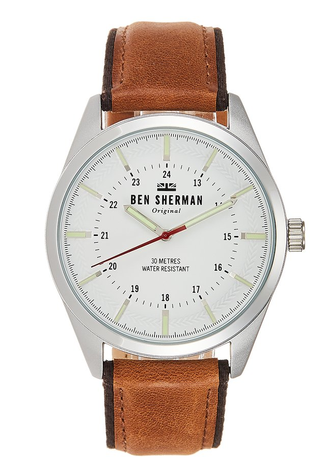 SPITALFIELDS OUTDOOR - Montre - brown/silver-coloured