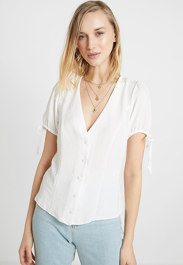 BOBBY TIE BUTTON BLOUSE - Bluser - off-white