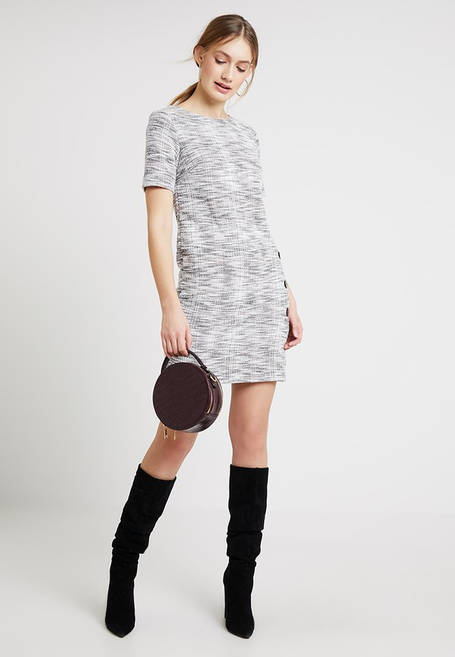 TEXTURED BUTTON - Day dress - grey