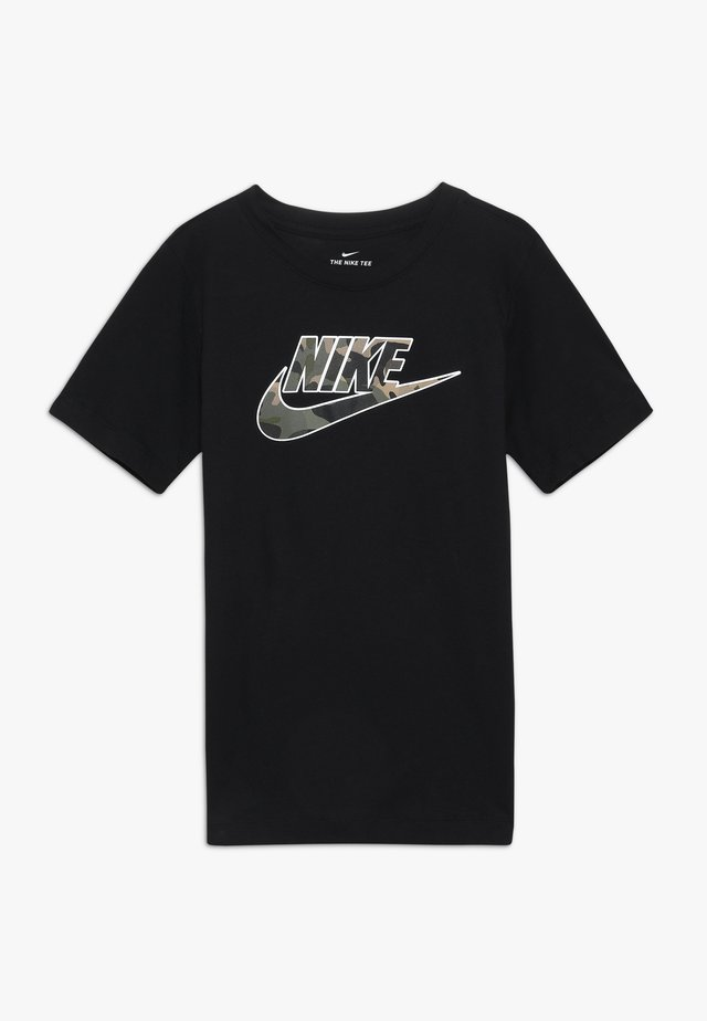 TEE FUTURA FILL - Print T-shirt - black