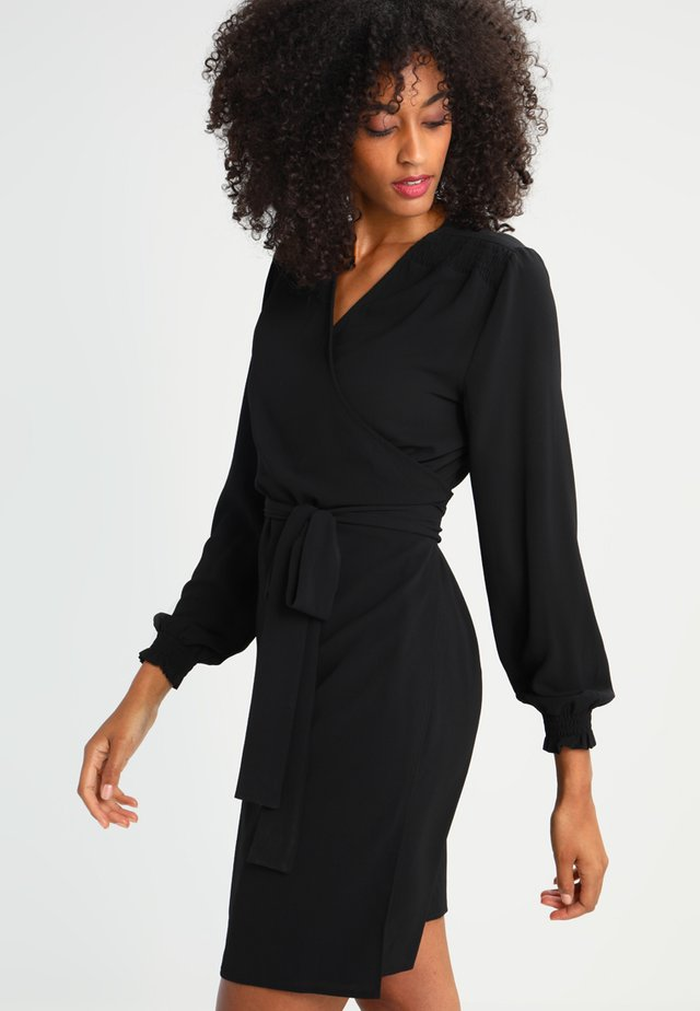 BLAKE WRAP DRESS - Vardagsklänning - black deep
