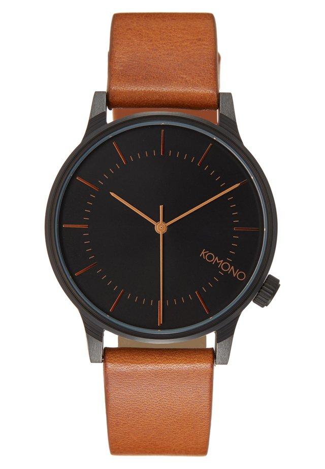 WINSTON REGAL - Watch - black/cognac