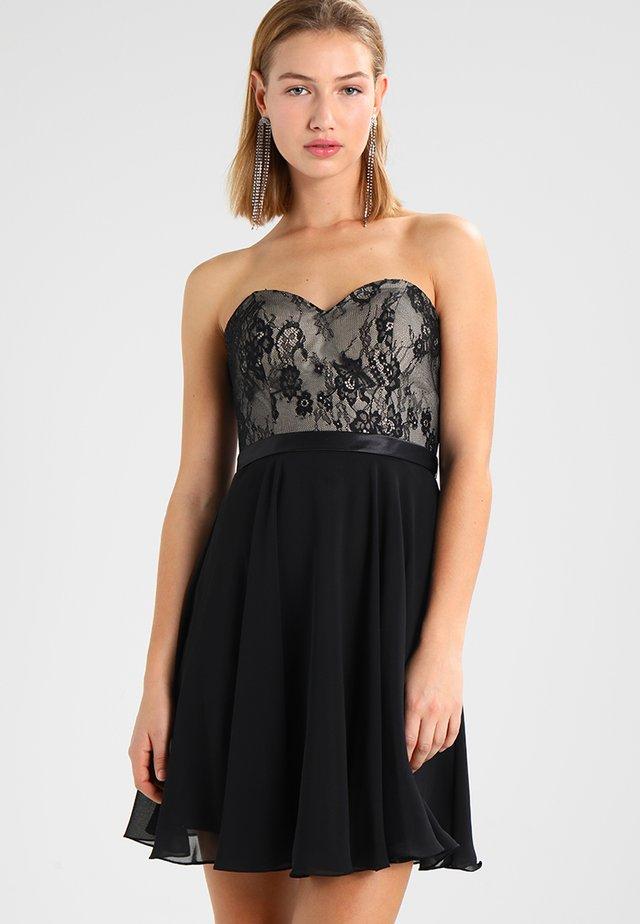 Cocktailkleid/festliches Kleid - schwarz/nude