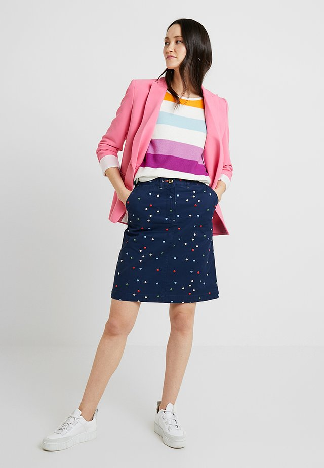LINDENBERRY CHINO SKIRT - A-line skirt - true navy