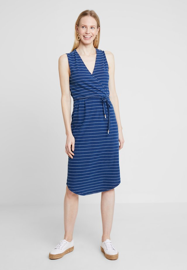 AVERY STRIPE DRESS - Trikoomekko - indigo