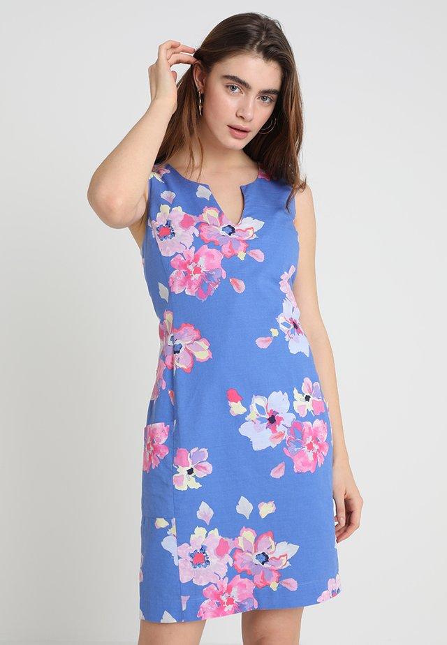 ELAYNA - Shift dress - blue floral