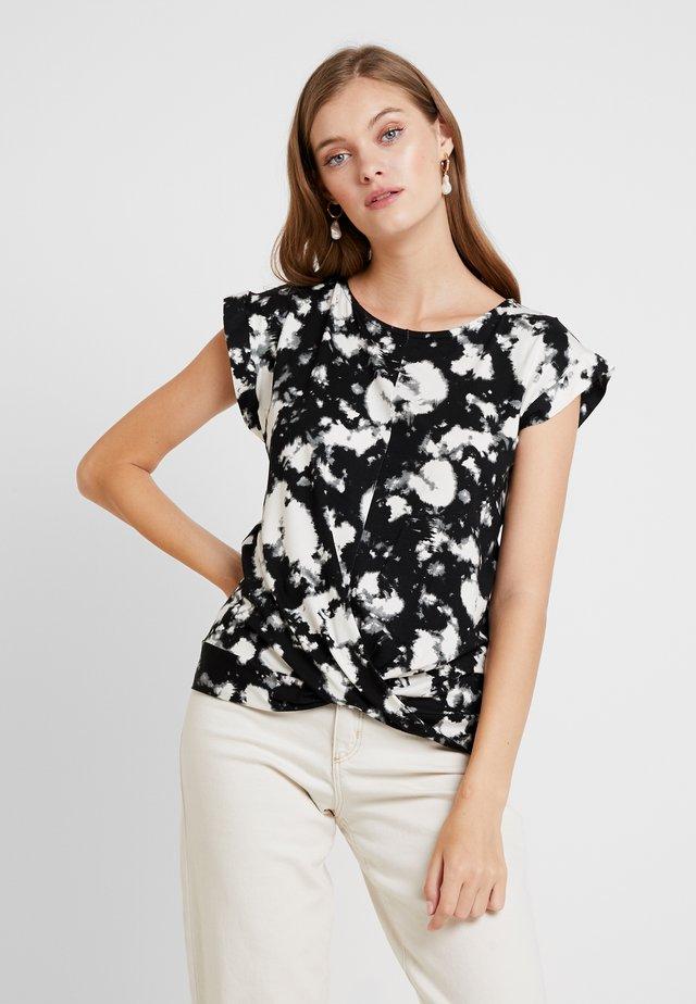 TIE DYE FRONT TEE - T-shirt imprimé - black