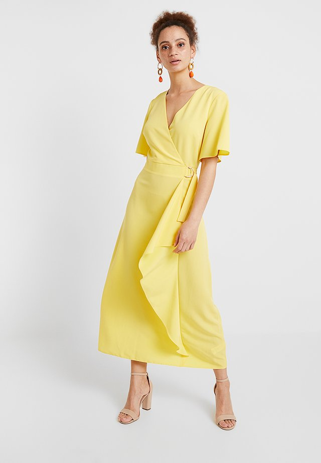 YELLOW BUCKLE WRAP - Maxi dress - sunshine yellow