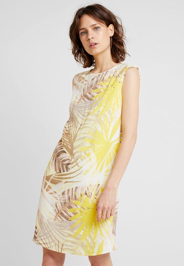 SOFT PALM HOTFIX SHIFT DRESS - Day dress - lemon