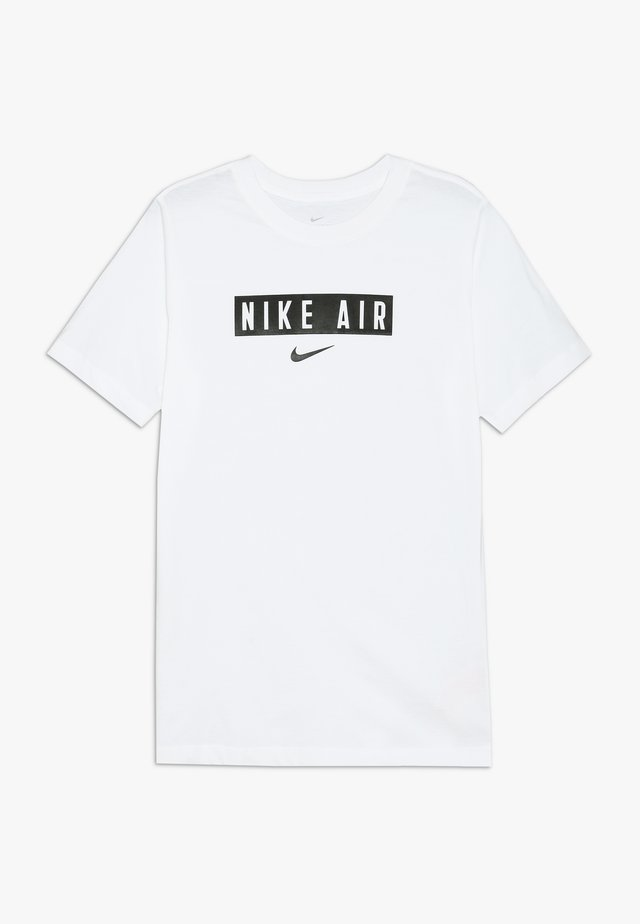 TEE AIR BOX - Print T-shirt - white/black