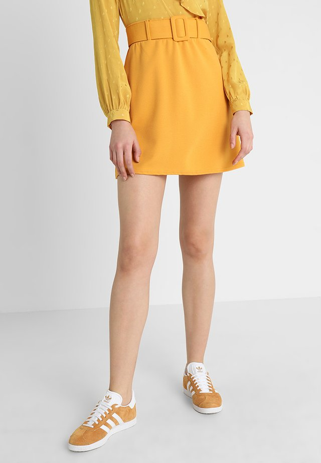 COVERED BUCKLE  - A-line skirt - corn yellow