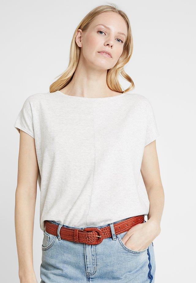 PREETI - T-shirt basic - pure grey melange