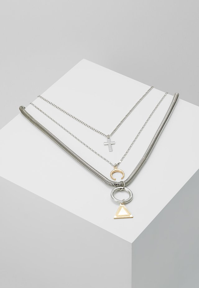 MULTI LAYER CHARM NECKLACE 3 PACK - Collar - silver-coloured
