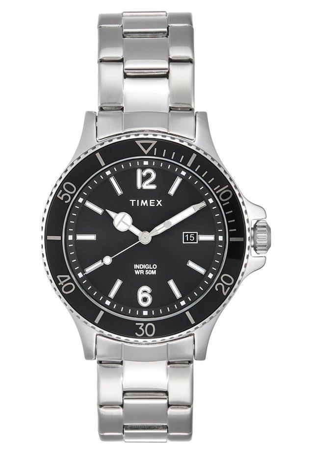 CITY DRESS - Horloge - silver-coloured/black