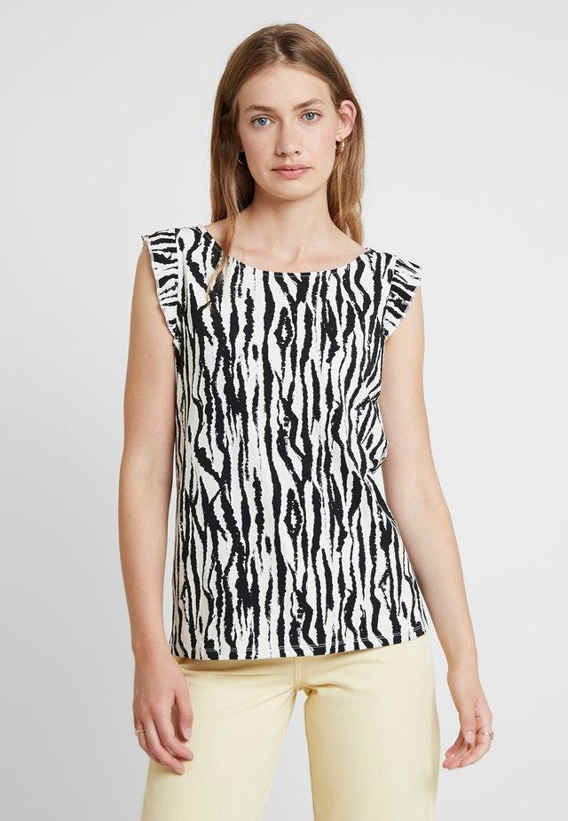 T-shirt imprimé - offwhite/black