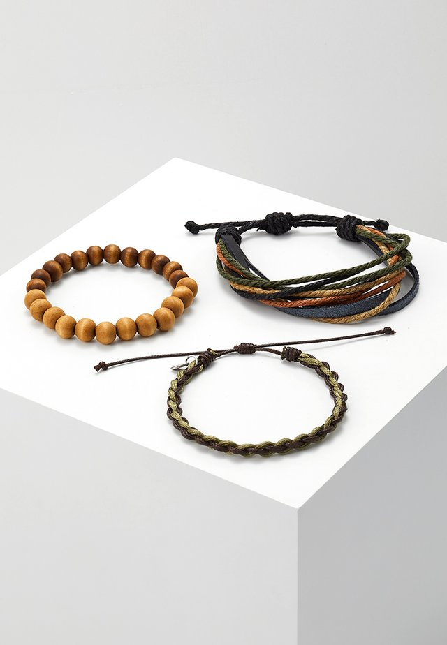 NICOYA 3 PACK - Bracelet - khaki