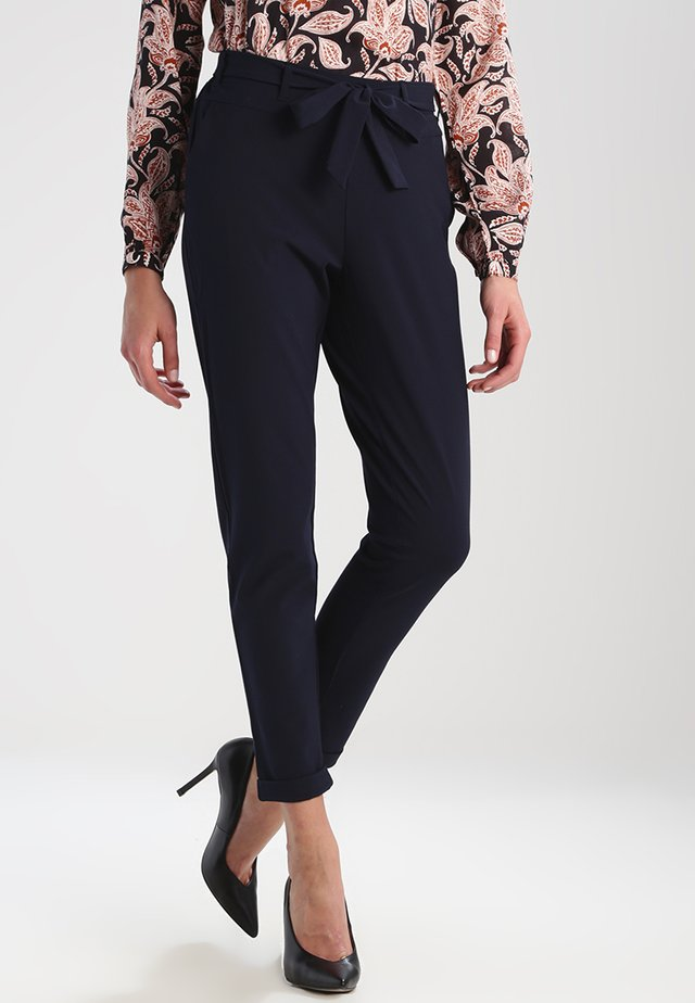 JILLIAN BELT PANT - Pantalon classique - midnight marine