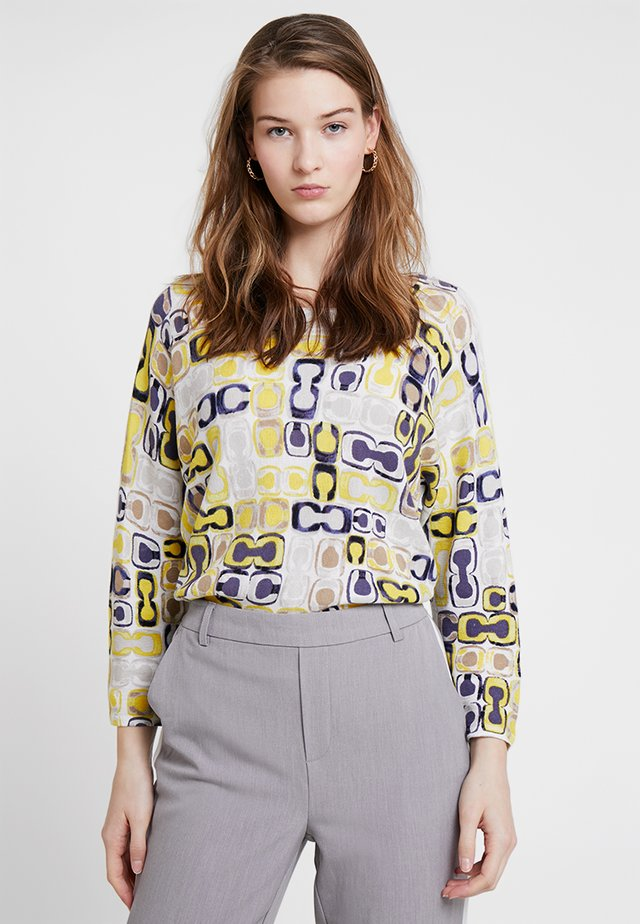 Sweter - gelb/blau