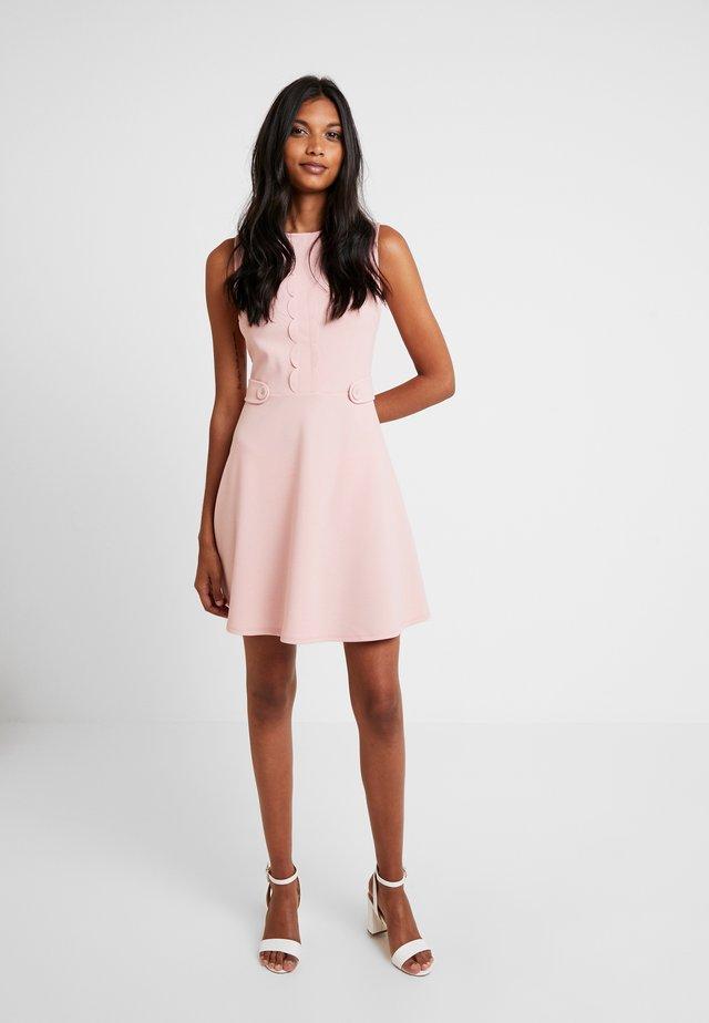 SCALLOPED DETAIL - Jersey dress - blush